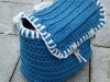 Boxtas blauw schuin