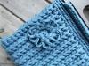 Tas blauw close-up